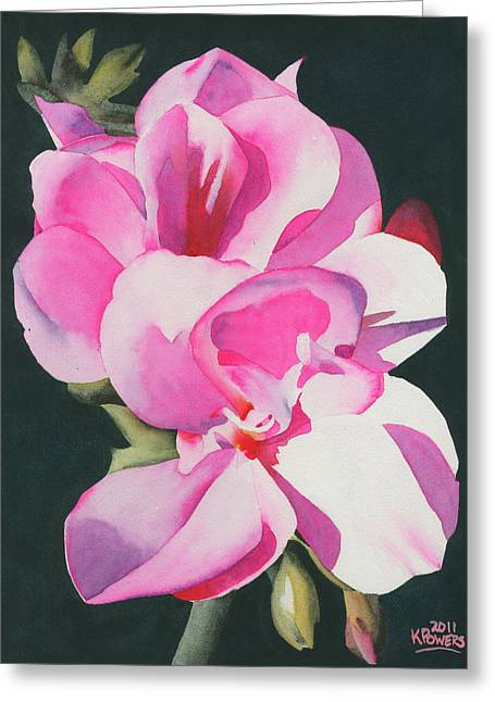 Out Of The Darkness Greeting Card by Ken Powers