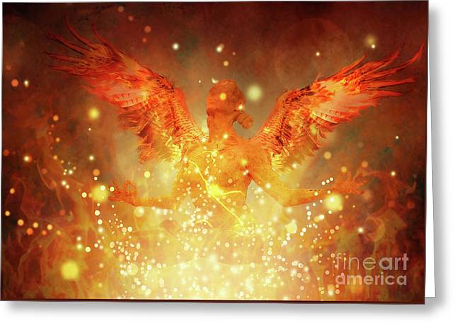 Out Of The Flames Greeting Card