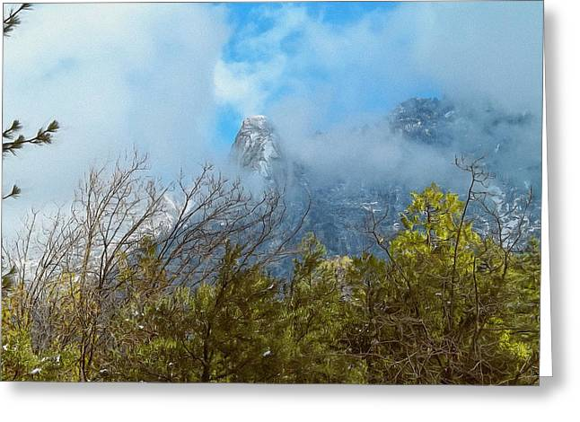 Greeting Card featuring the photograph Out Of The Mist by Glenn McCarthy Art and Photography