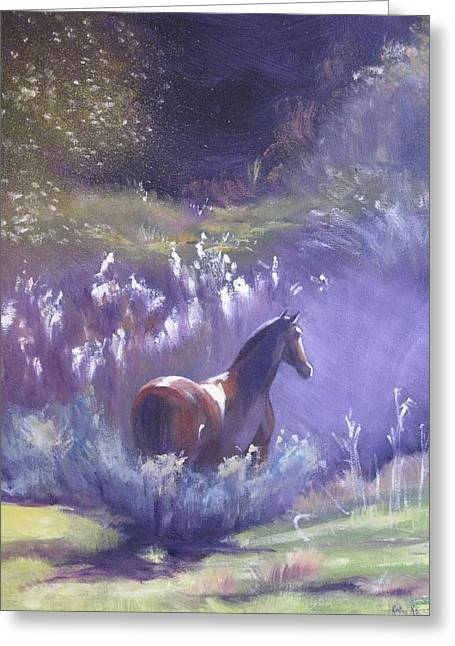 Out Of The Mist Greeting Card by Kathy  Karas