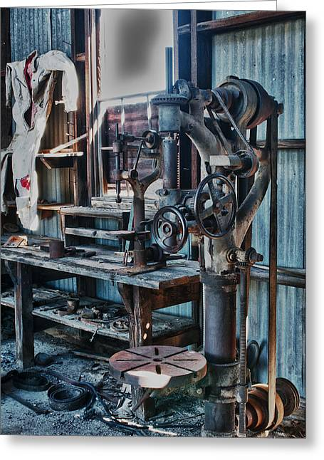 Out Of Work Greeting Card by Sandra Bronstein