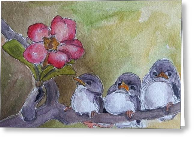 Out On A Limb Greeting Card by Janet Butler