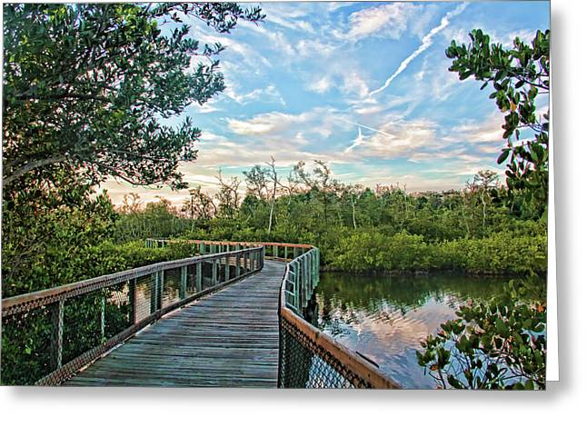 Out On The Boardwalk Greeting Card by HH Photography of Florida
