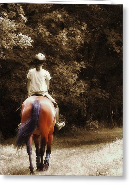 Out On The Trail Greeting Card by JAMART Photography