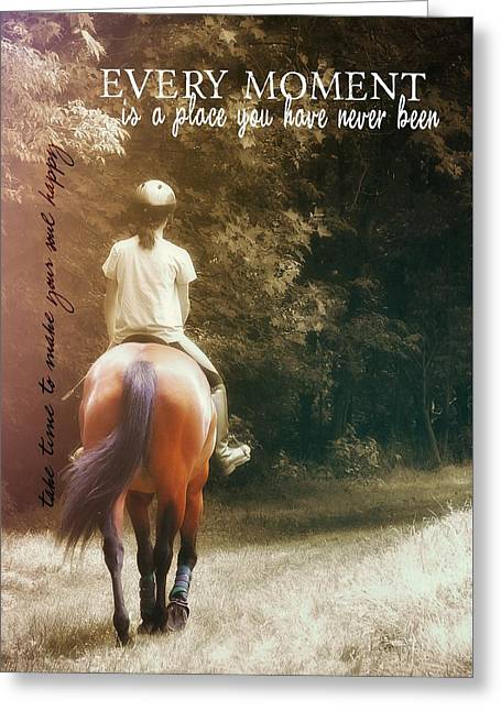 Out On The Trail Quote Greeting Card by JAMART Photography