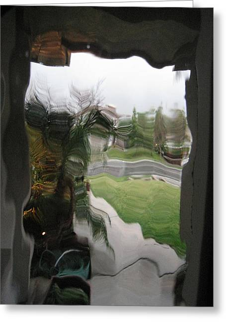 Out The Window Greeting Card by Eileen Shahbazian