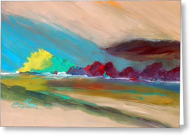 Greeting Card featuring the painting Out There by Ron Stephens