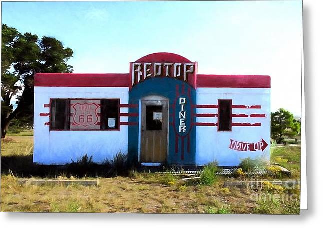 Out To Lunch On Route 66 Greeting Card by Mel Steinhauer