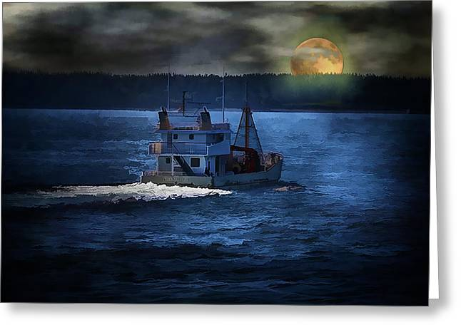 Greeting Card featuring the photograph Out To Sea by Gary Smith