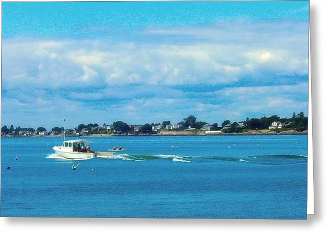Out To Sea Greeting Card