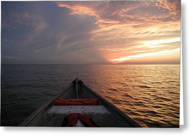 Greeting Card featuring the photograph Out To Sea by Nancy Taylor