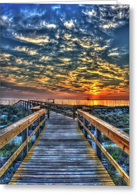 Greeting Card featuring the photograph Out To Sea Tybee Island Georgia Art by Reid Callaway