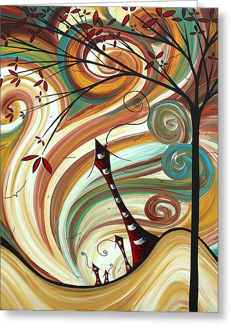 Out West II By Madart Greeting Card by Megan Duncanson