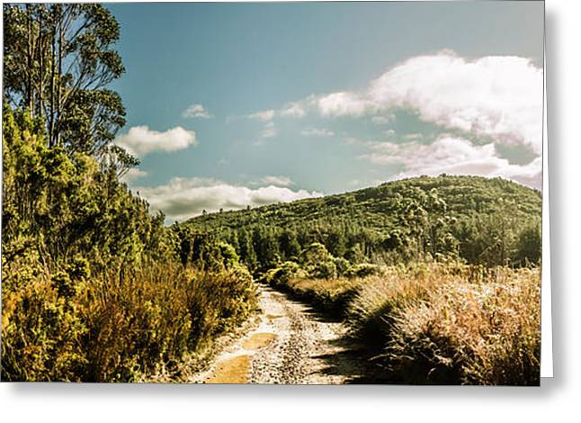 Outback Country Road Panorama Greeting Card by Jorgo Photography - Wall Art Gallery
