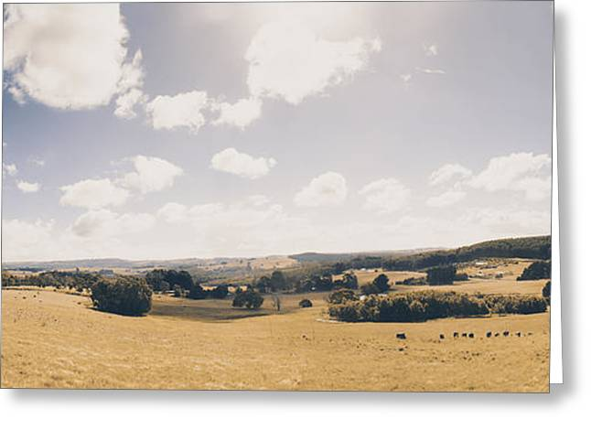 Outback Ridgley In Scenic Tasmania, Australia Greeting Card