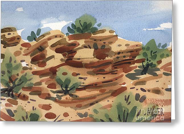 Outcrop Greeting Card by Donald Maier