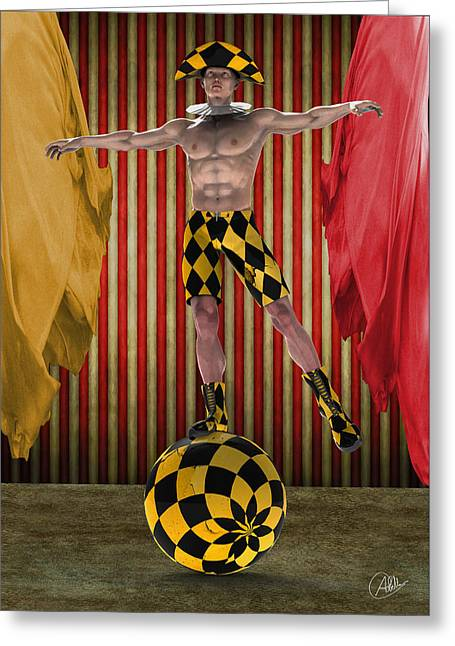 Outdated Circus Greeting Card by Quim Abella