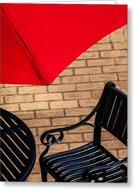 Outdoor Cafe Style Greeting Card by Karol Livote