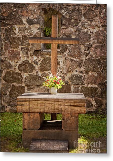 Outdoor Church Altar Greeting Card