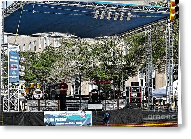 Outdoor Concert Setup Greeting Card by JW Hanley