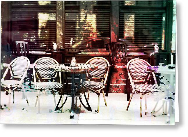 Outdoor Dining In Minneapollis Greeting Card by Susan Stone