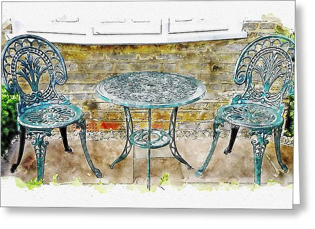 Outdoor Dining Greeting Card