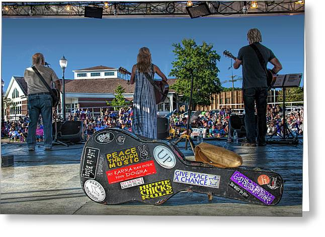 Outdoor Folk Country Rock Music Concert Greeting Card
