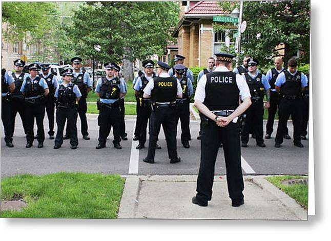 Outdoor Police Roll Call Greeting Card