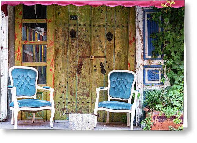 Outdoor Seating Greeting Card by Bob Phillips