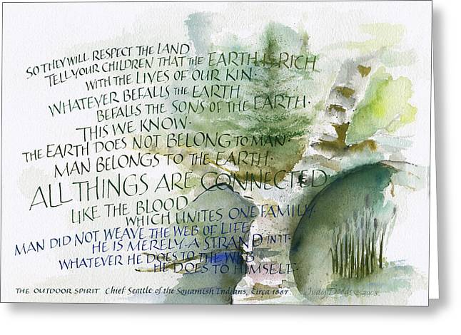 Outdoor Spirit Greeting Card by Judy Dodds