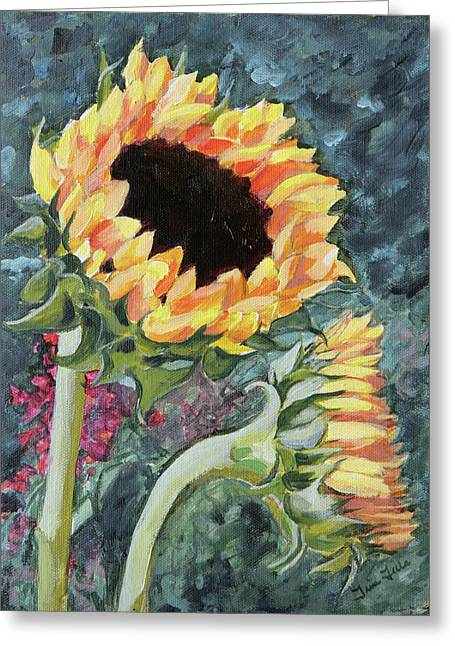Outdoor Sunflowers Greeting Card