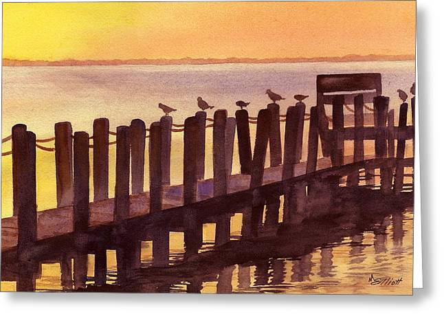 Outer Banks Greeting Card by Marsha Elliott