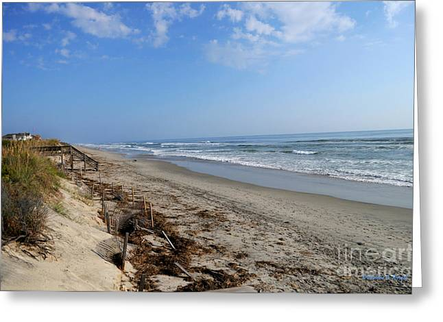Outer Banks Morning Greeting Card by Paulette B Wright