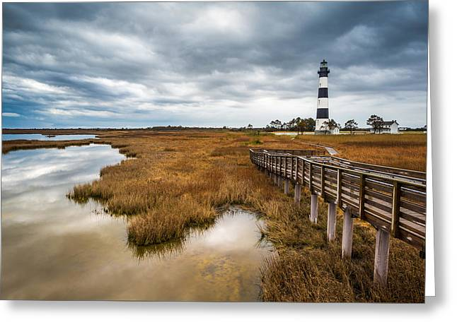 Outer Banks North Carolina Bodie Island Lighthouse Landscape Nc Greeting Card