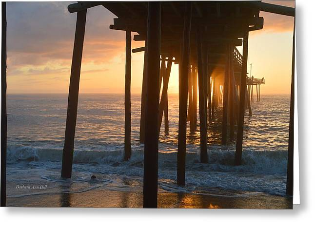 Greeting Card featuring the photograph Outer Banks Pier 7/6/18 by Barbara Ann Bell