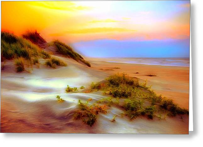 Outer Banks Soft Dune Sunrise Ap Greeting Card