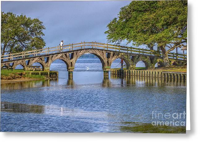Outer Banks Whalehead Club Bridge  Greeting Card by Randy Steele
