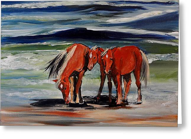 Outer Banks Wild Horses Greeting Card