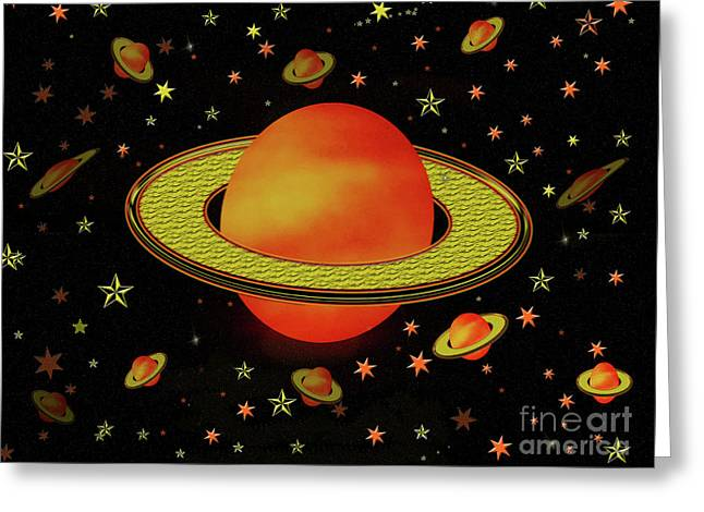 Outer Harvest Moons Greeting Card