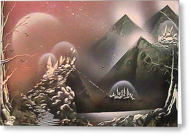 Outer Limits Greeting Card by My Imagination Gallery