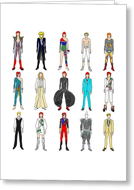Outfits Of Bowie Greeting Card