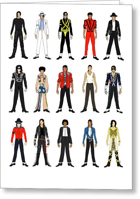 Outfits Of Michael Jackson Greeting Card