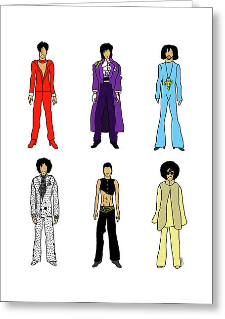 Outfits Of Prince Greeting Card