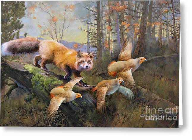 Outfoxed Greeting Card
