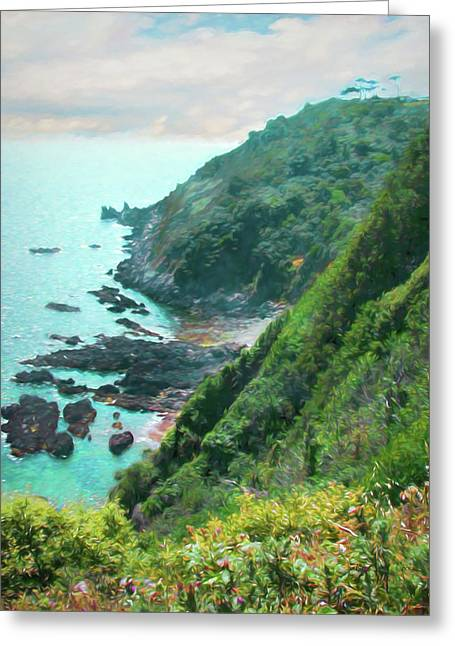 Greeting Card featuring the photograph South End Of Guernsey by Bellesouth Studio