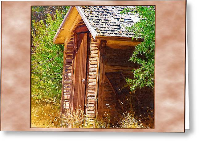 Greeting Card featuring the photograph Outhouse 1 by Susan Kinney