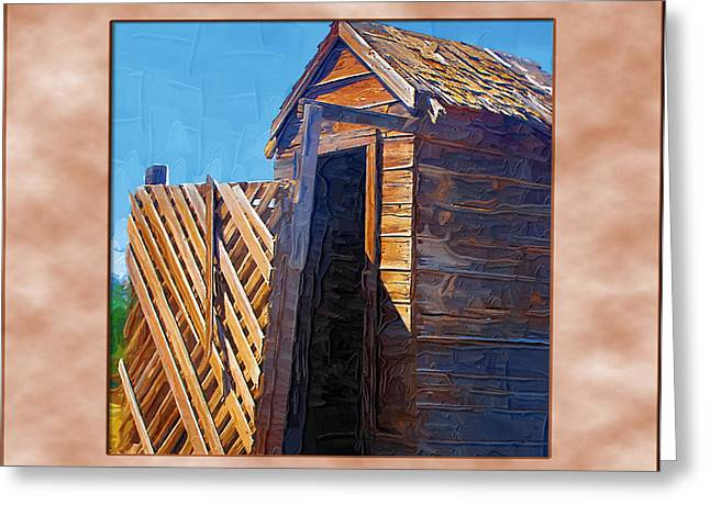 Greeting Card featuring the photograph Outhouse 2 by Susan Kinney