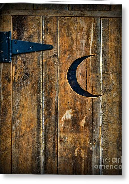 Outhouse Door  Greeting Card by Paul Ward