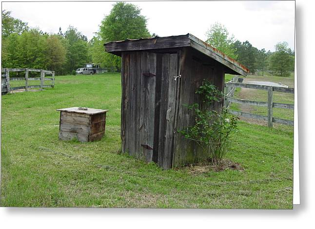 Outhouse Greeting Card by Quwatha Valentine