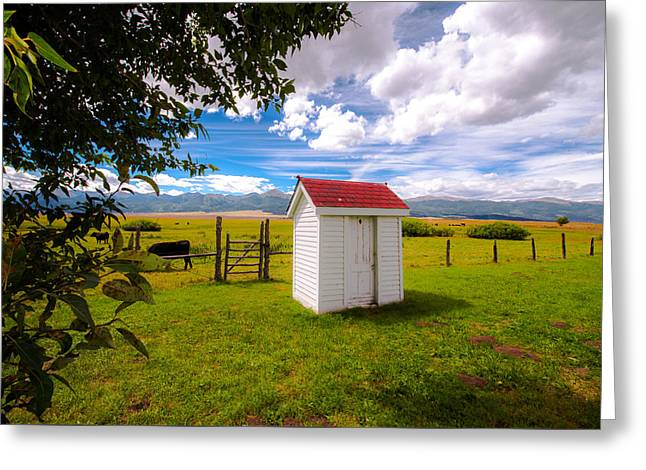Outhouse Greeting Card by Tim Reaves